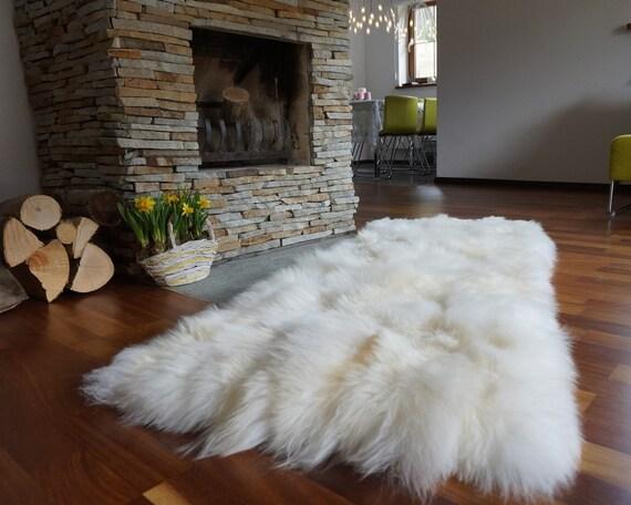 Grande vente tapis peau de mouton d coratif en cuir de for Grand tapis en peau de mouton ikea
