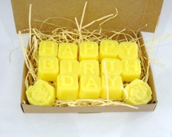 Candle Tarts, Wax Melts, Birthday Gift, Birthday Message, Lemongrass Candle Tarts, Lemongrass Scent, Lemongrass Wax Melts, Lemongrass Melts