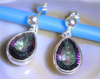 Mystic Topaz and Silver Earrings   --  6189