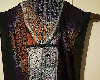 Hand made batik blouse. L/XL