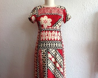 1960s Hawaiian maxi dress
