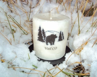 Handmade Palm Wax  Candle with the Bear! Perfect gift for any occasion.