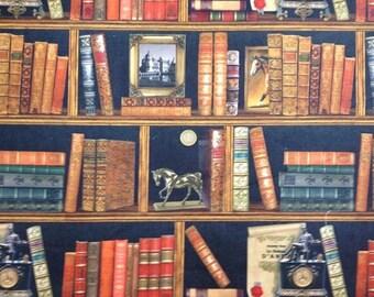 Pop Art Home Decor Fabric, Bookshelf Upholstery Fabric, Library, Non-fade & Washable, Kmsc-2898
