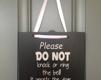 Please do not ring the bell door hanger