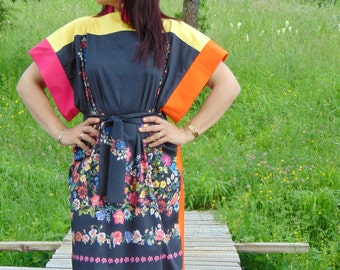 Boho dress/Unique dress/Party dress/Elegant dress/Sun dress/Cotton dress/Summer dress/Design dress/Colorful dress/African dress/Floral dress