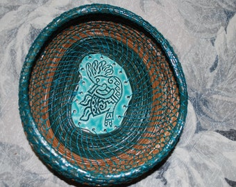 "Pine Needle Basket ""Kokopelli"""