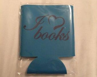 DRINK cozy holder wrap I heart Books