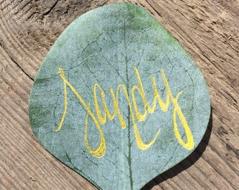Eucalyptus Leaf Place Card