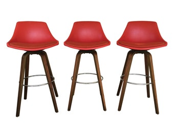SALE! - Mid Century Bar Stools by John Yellen for I.V. Chair Corp.