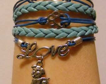 Dog bracelet, dog jewelry, puppy bracelet, puppy jewelry, fashion bracelet, fashion jewelry, paw bracelet, paw jewelry, furbaby bracelet