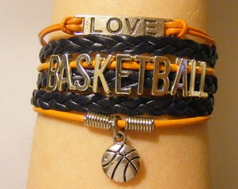 Basketball bracelet, basketball jewelry, sports bracelet, sports jewelry, fashion bracelet, fashion jewelry, sports team bracelet