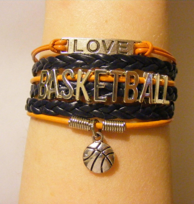 Basketball Charm Bracelet: Basketball Bracelet Basketball Jewelry Sports Bracelet