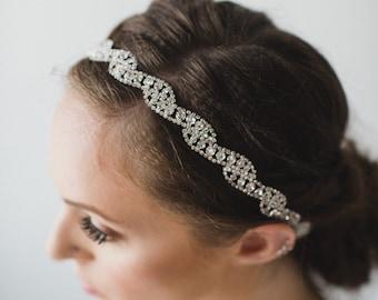 Silver Bridal Headband   Crystal Headband   Wedding Hair Piece   Bridal Headpiece   Wedding Headpiece   Bridget Headband - Silver