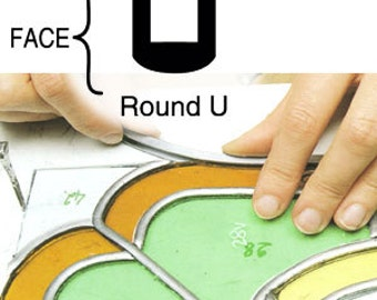 1/4 Round U Lead Came-Came-Lead Came-Stained Glass supplies
