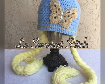 SALE*Cinderella inspired crocheted hat