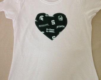 "Michigan State ""Spartans"" Ladies T-shirt"