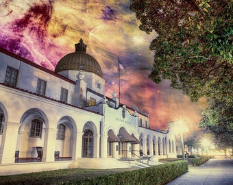 Healing Lights, Soothing Vapors - Limited Edition Canvas Print - Hot Springs, Arkansas Quapaw Bathhouse