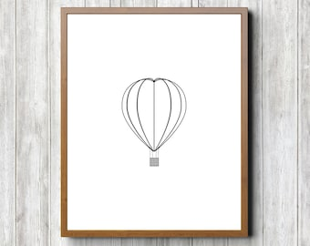 Hot Air Balloon 8 x 10 Printable