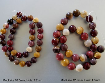 Natural Mookaite Round Beads Strands,10.5mm, 12.5mm.  (BD-A242-45)