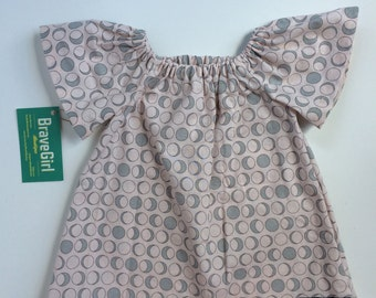 READY TO SHIP! Sale! Moon Phases Dress, Tunic Style Top, Baby and Girls, Space Themes