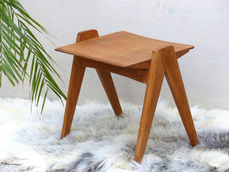 table basse vintage en ch ne table basse pieds compas. Black Bedroom Furniture Sets. Home Design Ideas