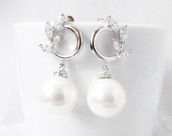 pearl wedding earrings, pearl earings, pearl bridal earrings , pearl wedding jewelry, pearl bridal jewelry
