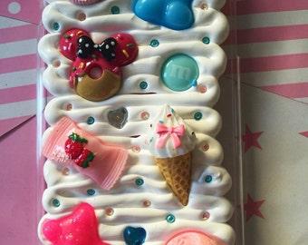 Candy iPhone 6 / 6s plus Gummy Bear Kawaii Case / Fake Whipped Decoden Case / Deco Whip Fake Cream Custom Case
