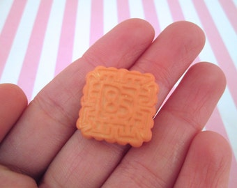Miniature Square Biscuit Cookie Decoden Kawaii Cabochons, #096b