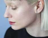 Navigator - extended silver bar earrings