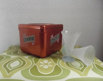 vintage Cointreau ice bucket, bar decoration,