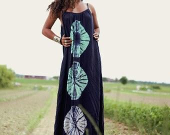 Batik LongDress Blue OneSize Boho