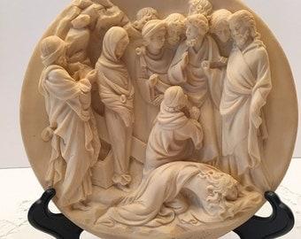 A Santangela Limited Edition Collectible Plate~ La Resurrezione di Lazzaro~The Resurrection of Lazarus ~ Made in Italy
