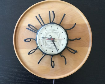 Mid Century Electric Wall Clock