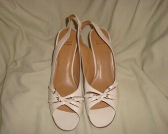 Beige Leather Stuart Weitzman Sandals 8 1/2N