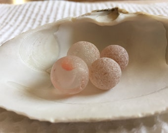 Pink and peach marbles