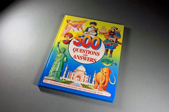 Children's Hardcover Book, 500 Questions and Answers, Anne McKie and Ken McKie, Educational Book, Non-Fiction, Learning Tool