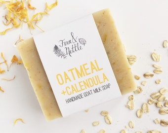 Oatmeal + Calendula Goat Milk Soap