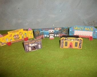 N gauge card model Fairground set 2