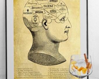 The Gin Lover - Art Print - Gin Gift Idea - Gin Poster-  Gin Present - Gin Connoisseur & Gin Tonic Fan: (Gordon's, Hendricks, Tanqueray,)