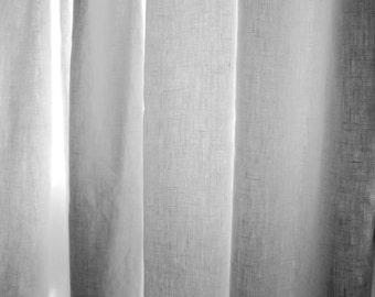 White Outdoor Curtains 4 Panels weather resistant, stain resistant