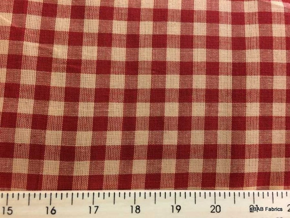 Red Homespun Farmhouse Fabric By The Yard Fat Quarter Red