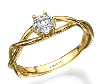 engagement ring diamond ring diamond engagement ring engagement band 14k ring - Wedding Rings And Engagement Rings