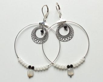 Loops IPSU / / silver hoops