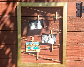 Wedding frame - twine frame - wedding frame - picture display - picture frame - rustic picture frame - wedding picture display - wedding pic