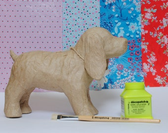 Decopatch Susie the Spaniel Kit, Dog Craft Kit,  Decoupage Dog Kit, Make you Own Spaniel Kit, Children's Craft Kit - includes all you need.