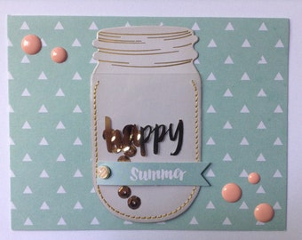 Happy Summer Card - Summer Card - Gold Foil Card - Hello Card - Just Because Card