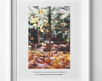 Autumn print, fall printable quote, autumn wall art, fall print, autumn printable art, fall printable art fall wall art autumn digital print