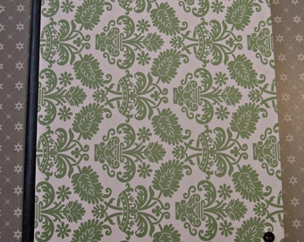 Green and white pattern book