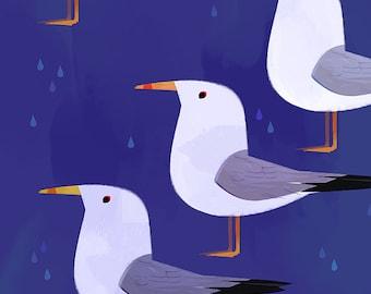 Gulls - Art Print