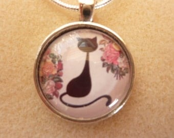 Cat Pendant with Chain